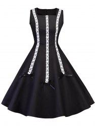Vintage Lace Panel Pin Up Dress -