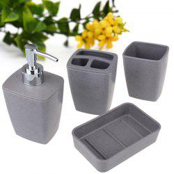 4Pcs Environmentally Friendly Fiber Bathroom Accessory Set -
