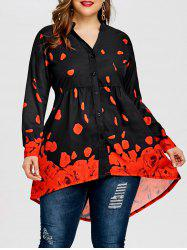 Plus Size Rose Petal Tunic Top -