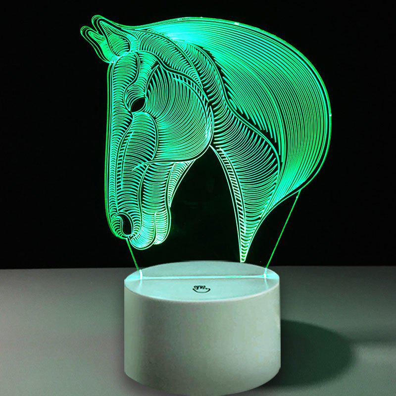 New 3D Horse Head Shape Decor USB Charging LED Touch Night Light