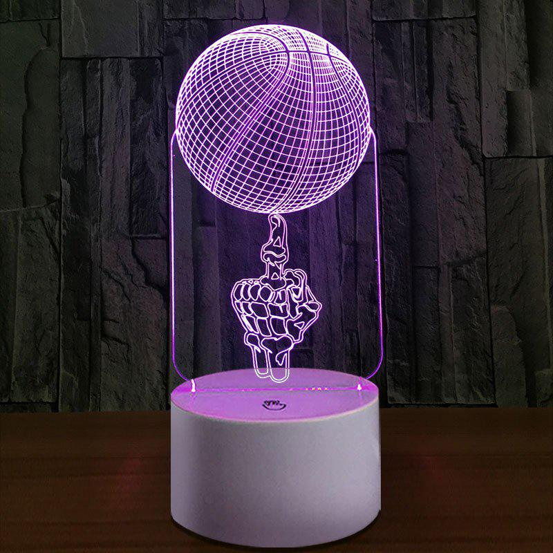 Shops 3D Vision Finger BasketBall Color Changing Night Light