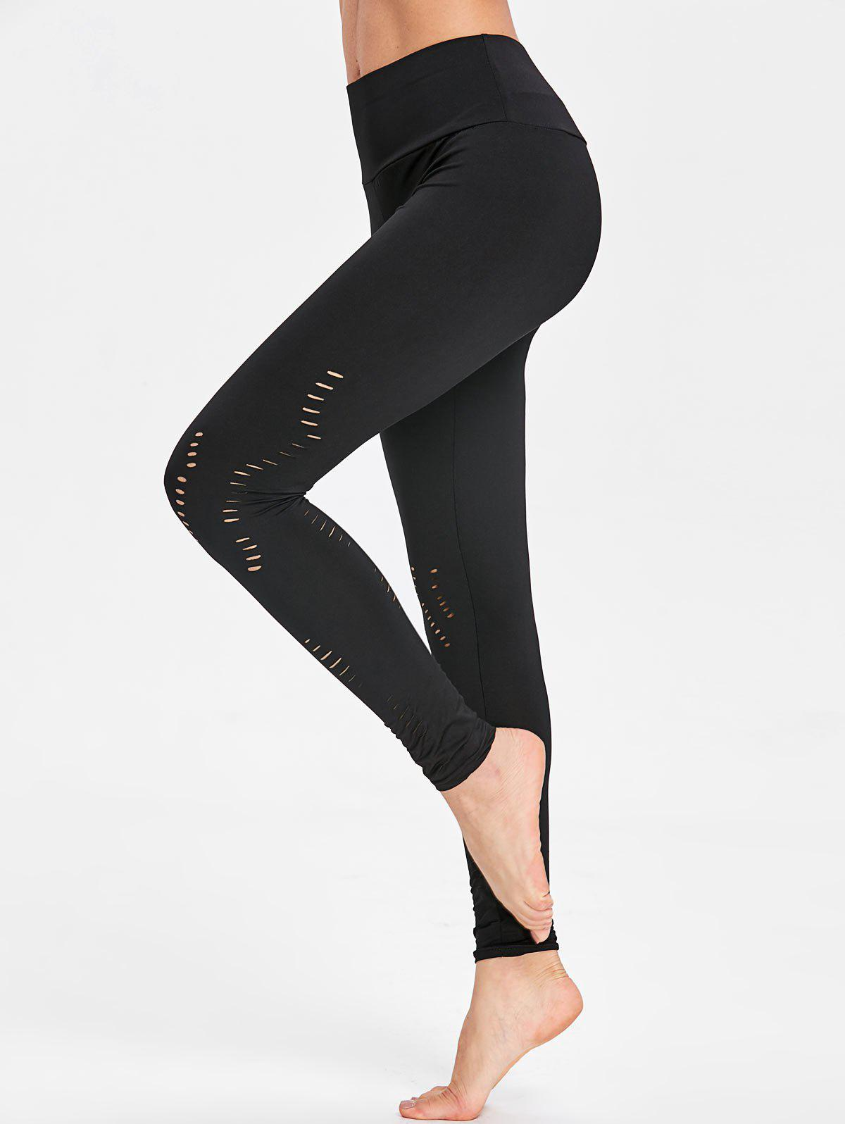Fancy Cutout Yoga Ripped Leggings