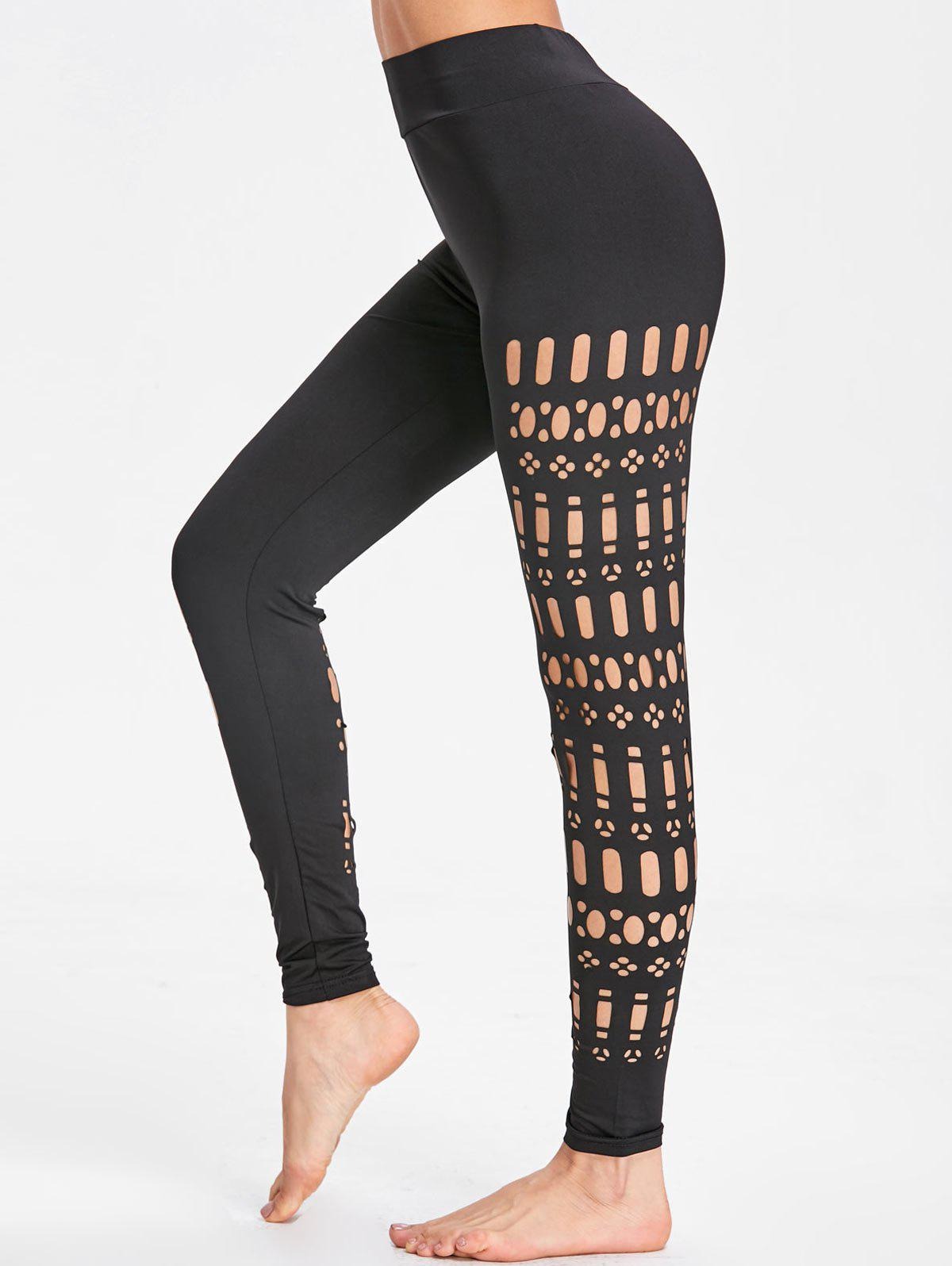 Shops Sports See Through Cutout Leggings
