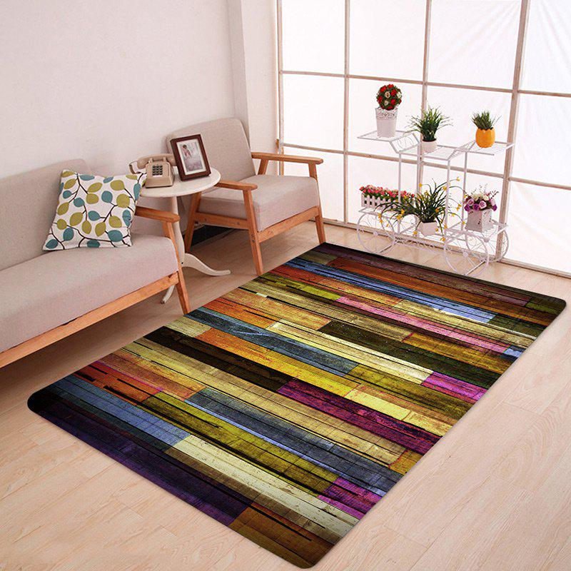 Colormix W47 Inch * L63 Inch Colorful Wood Flooring Pattern Anti ...