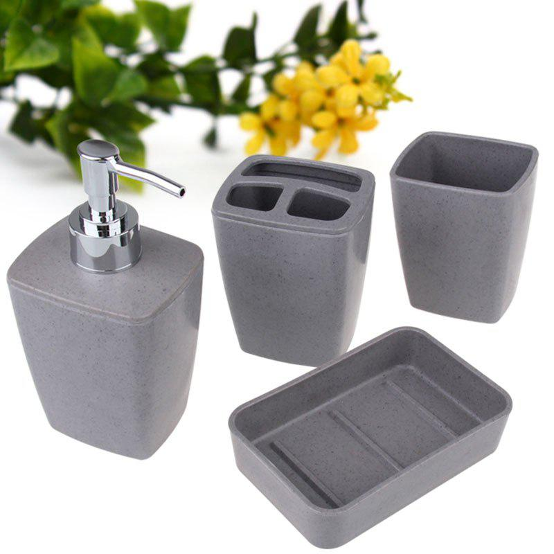 Discount 4Pcs Environmentally Friendly Fiber Bathroom Accessory Set