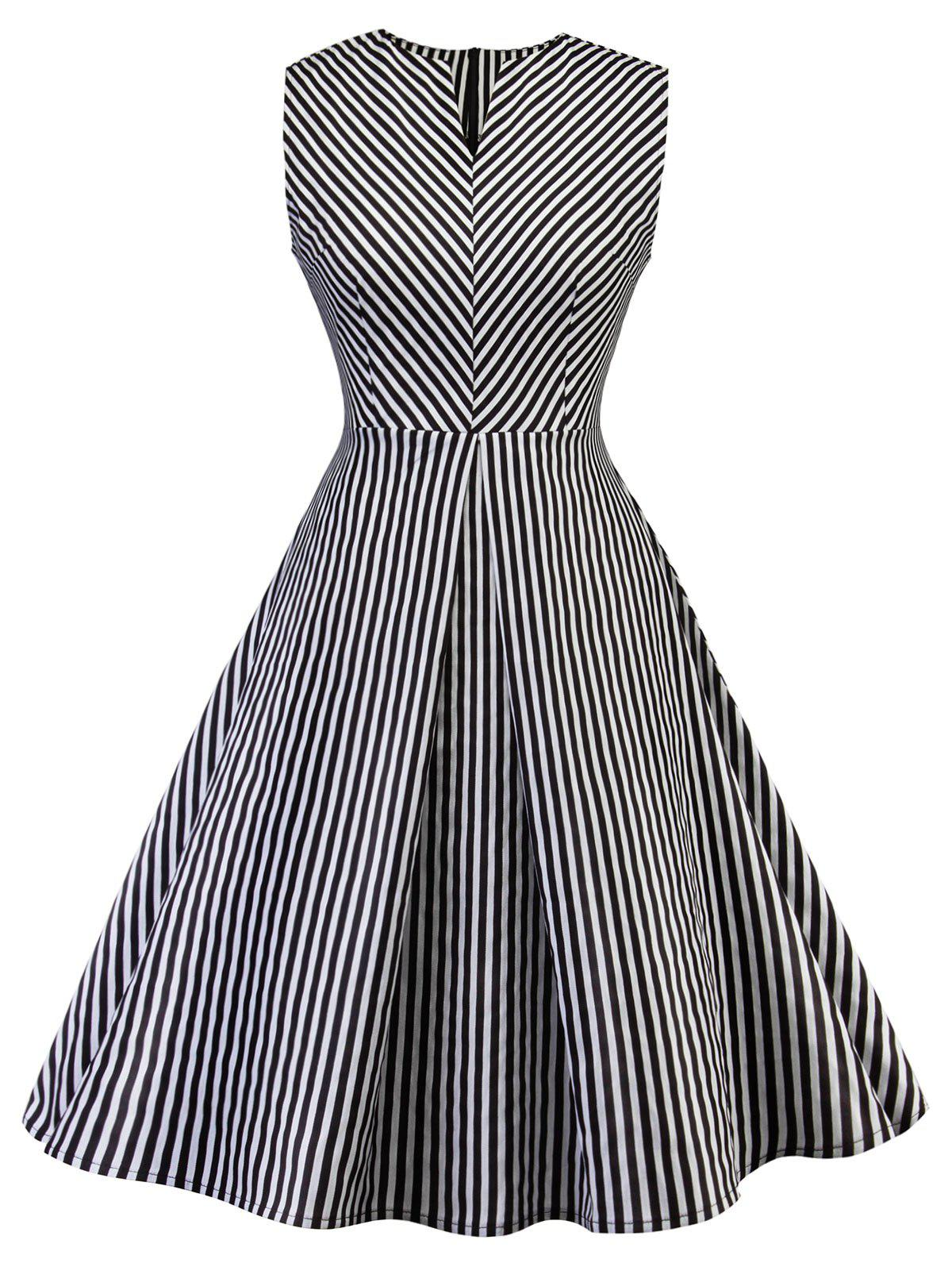 New Vintage Stripe Pin Up Dress