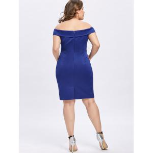 Plus Size Foldover Off The Shoulder Dress -