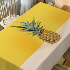 Pineapple Print Fabric Waterproof Table Cloth -