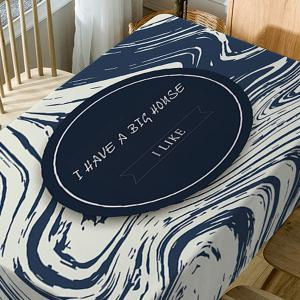 Letters Print Fabric Waterproof Table Cloth -