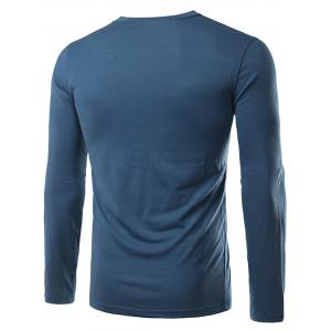 Half Buttons Long Sleeve T-shirt -