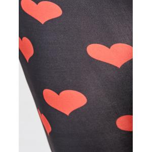 Plus Size Heart Print Leggings -