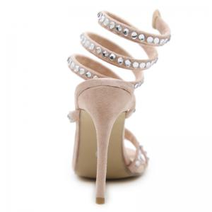 Stiletto talon strass gladiateur sandales -