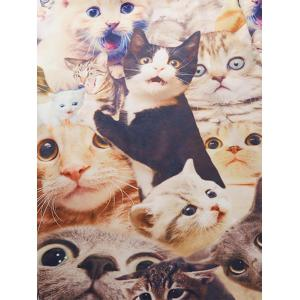 Crew Neck 3D Surprised Cats Tee -