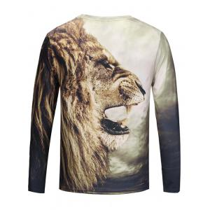 T-shirt Lion 3D Roar Lion -