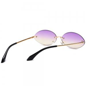 Vintage Oval Shaped Frameless Sunglasses -