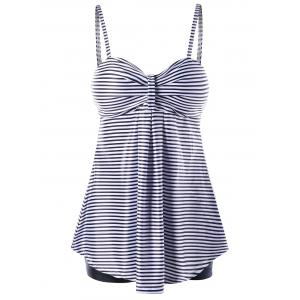 Empire Waist Striped Tankini Set -
