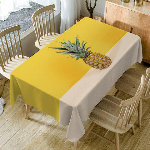 Outfits Pineapple Print Fabric Waterproof Table Cloth
