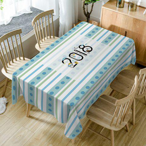 Online 2018 Stripe Print Fabric Waterproof Table Cloth