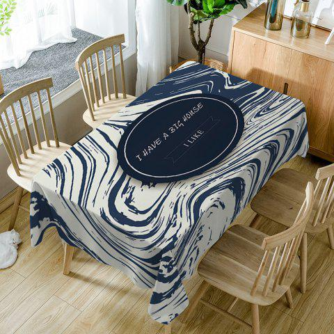 Hot Letters Print Fabric Waterproof Table Cloth