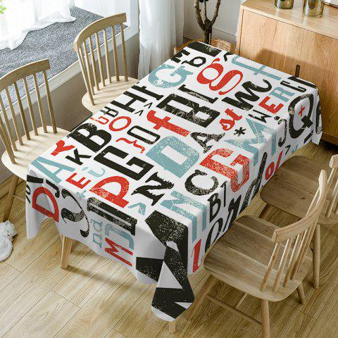 Chic Letter Print Fabric Waterproof Table Cloth
