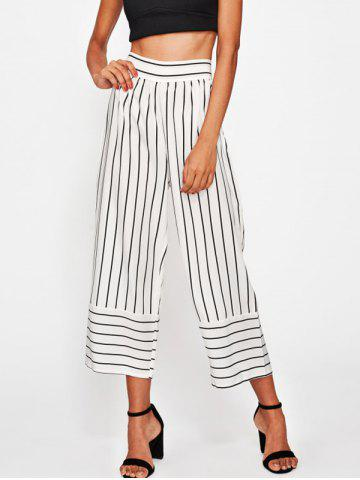 Buy High Waisted Striped Gaucho Pants