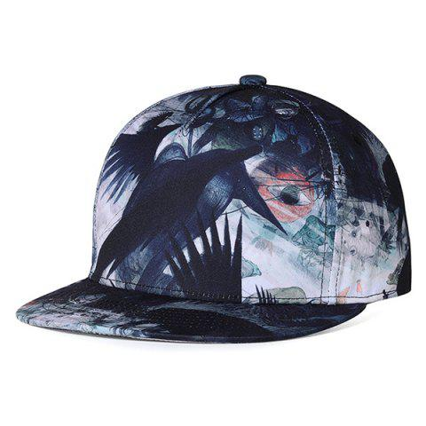 Cheap Unique Crow Pattern Embellished Adjustable Baseball Hat