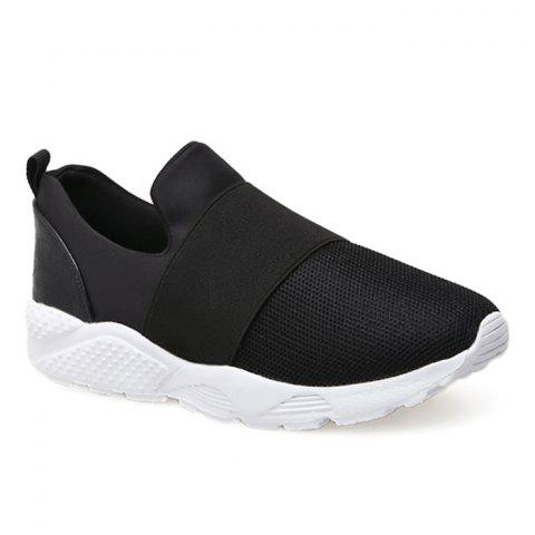 Fashion Mesh Upper Color Block Slip On Sneakers