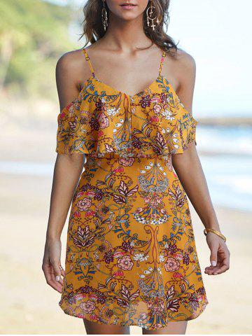 Sale Spaghetti Strap Floral Printed Dress