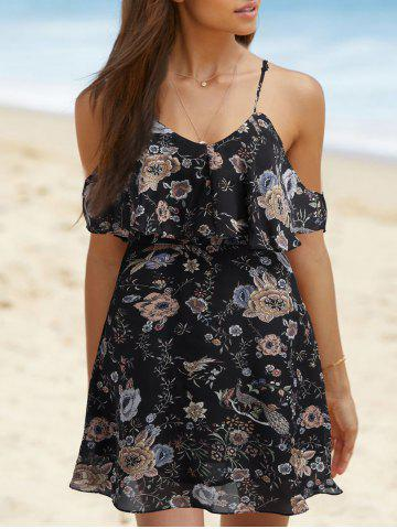 Outfit Spaghetti Strap Floral Printed Dress