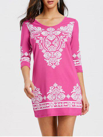 Latest Ethnic Print Mini Bodycon Dress