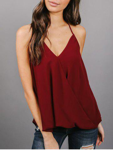 Outfits Backless Chiffon Wrap Top