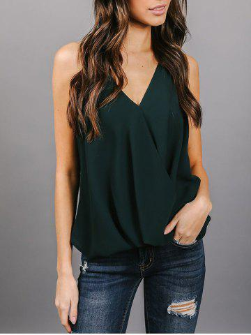 Trendy Backless Chiffon Wrap Top