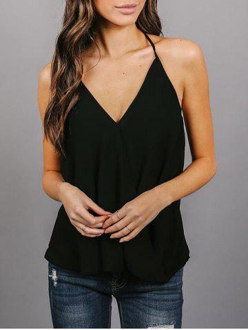 Outfit Backless Chiffon Wrap Top