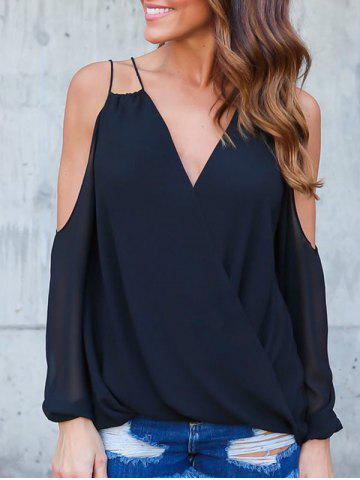 Shop Straps V Neck Wrap Blouse