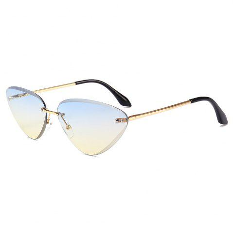 Cheap Anti Fatigue Frameless Cat Eye Sunglasses