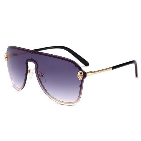 New Metal Full Frame One Pieces Lens Sunglasse