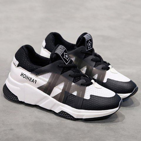 Cheap Breathable Color Block Sneakers