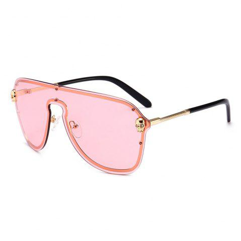 Trendy Metal Full Frame One Pieces Lens Sunglasse