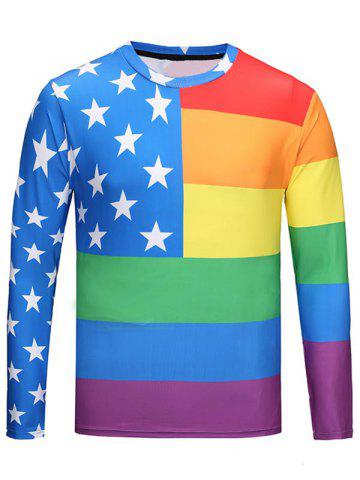 Crew Neck Rainbow Star Tee