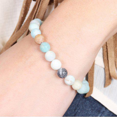 Affordable Bohemian Artificial Turquoise Beaded Bracelet