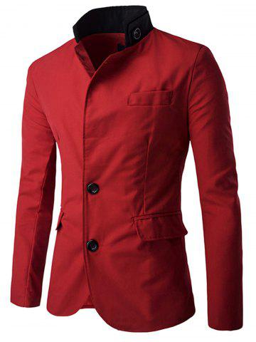 Online Casual Stand Collar Single Breasted Blazer