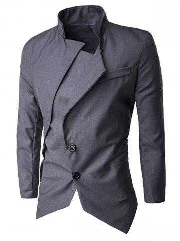 Discount Single Breasted Asymmetric Blazer
