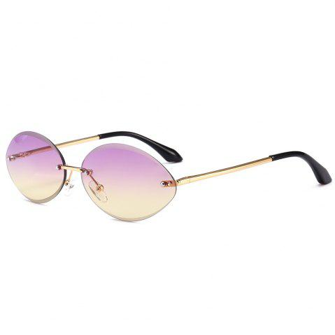 Buy Vintage Oval Shaped Frameless Sunglasses
