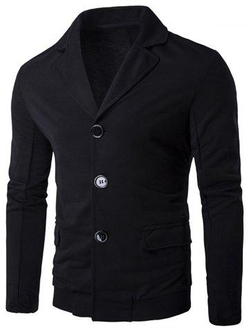 Best Single Breasted Rib Panel Casual Blazer