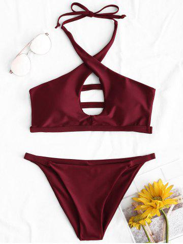 Shop String Halter Straps Bikini Set