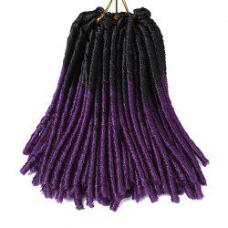 Extension de Cheveux Synthétiques Tresses Dreadlocks au Crochet Court -