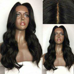 Center Parting Long Body Wave Lace Front Human Hair Wig -