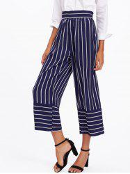 High Waisted Striped Gaucho Pants -
