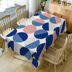 Dot Print Fabric Waterproof Table Cloth -