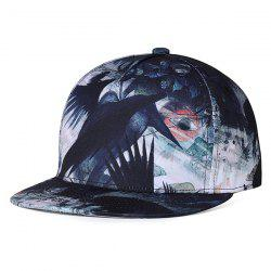 Unique Crow Pattern Embellished Adjustable Baseball Hat -